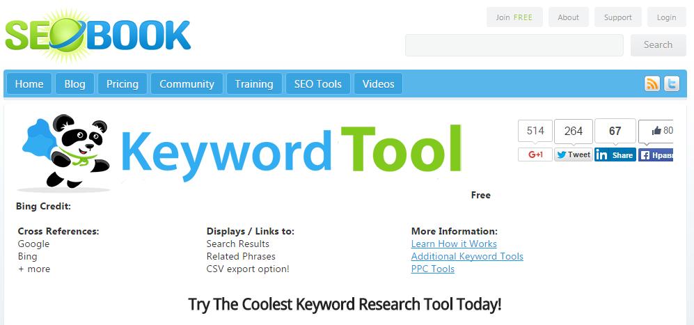 Keyword Research Tools: SEO Book