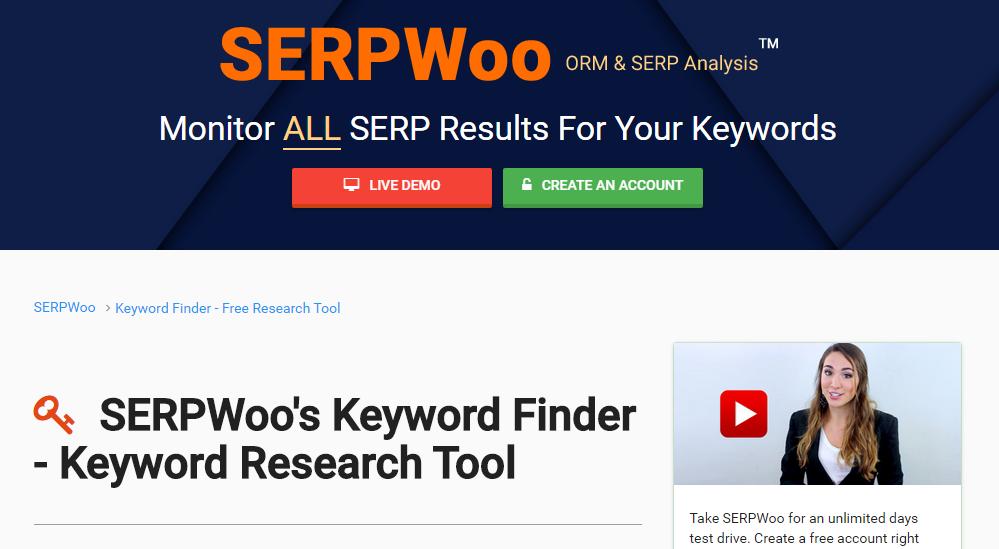 Keyword Research Tools: SERPWoo Keyword Finder