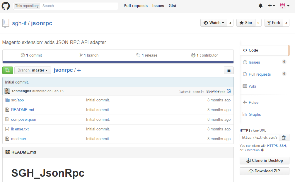 SGH Json Rpc for Magento