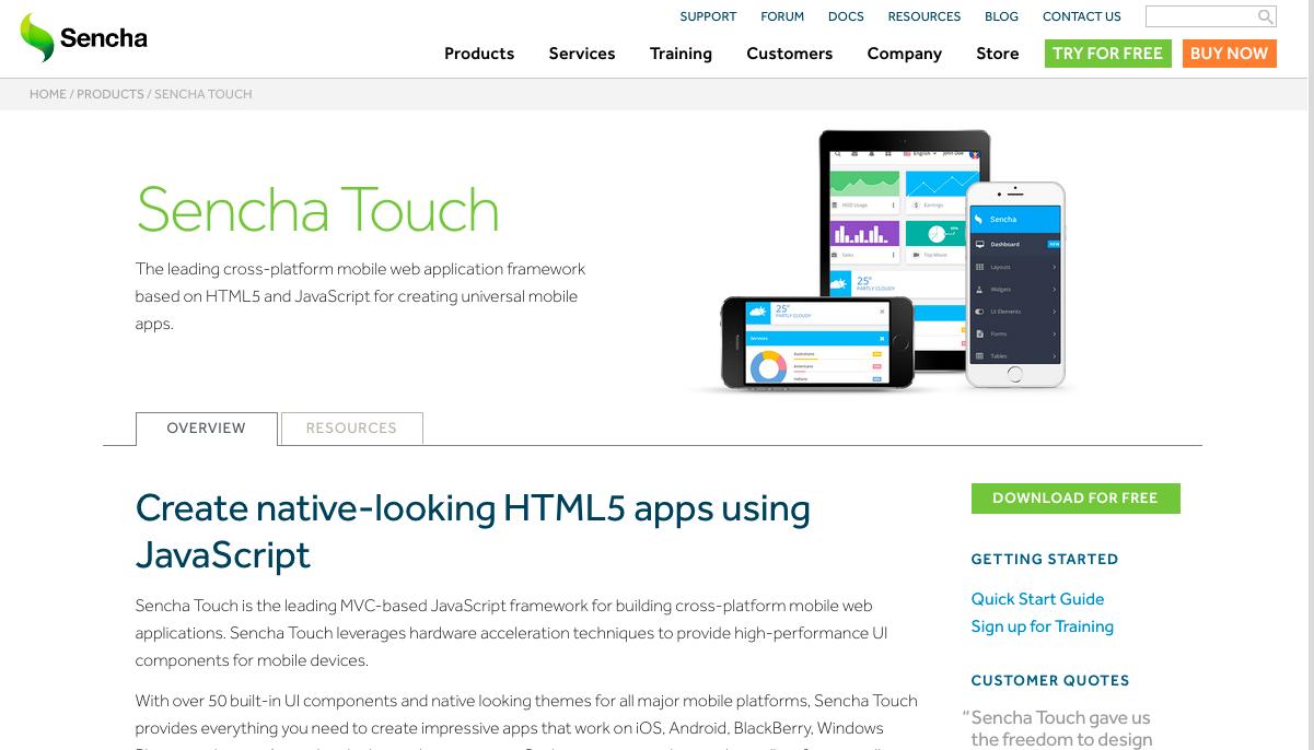Tools for Hybrid Application Development: Sencha Touch