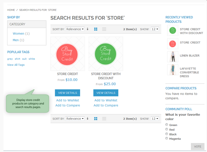 Store Credit Magento Extension: Amasty
