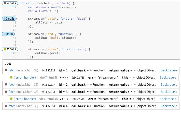 debug Node.js with Theseus