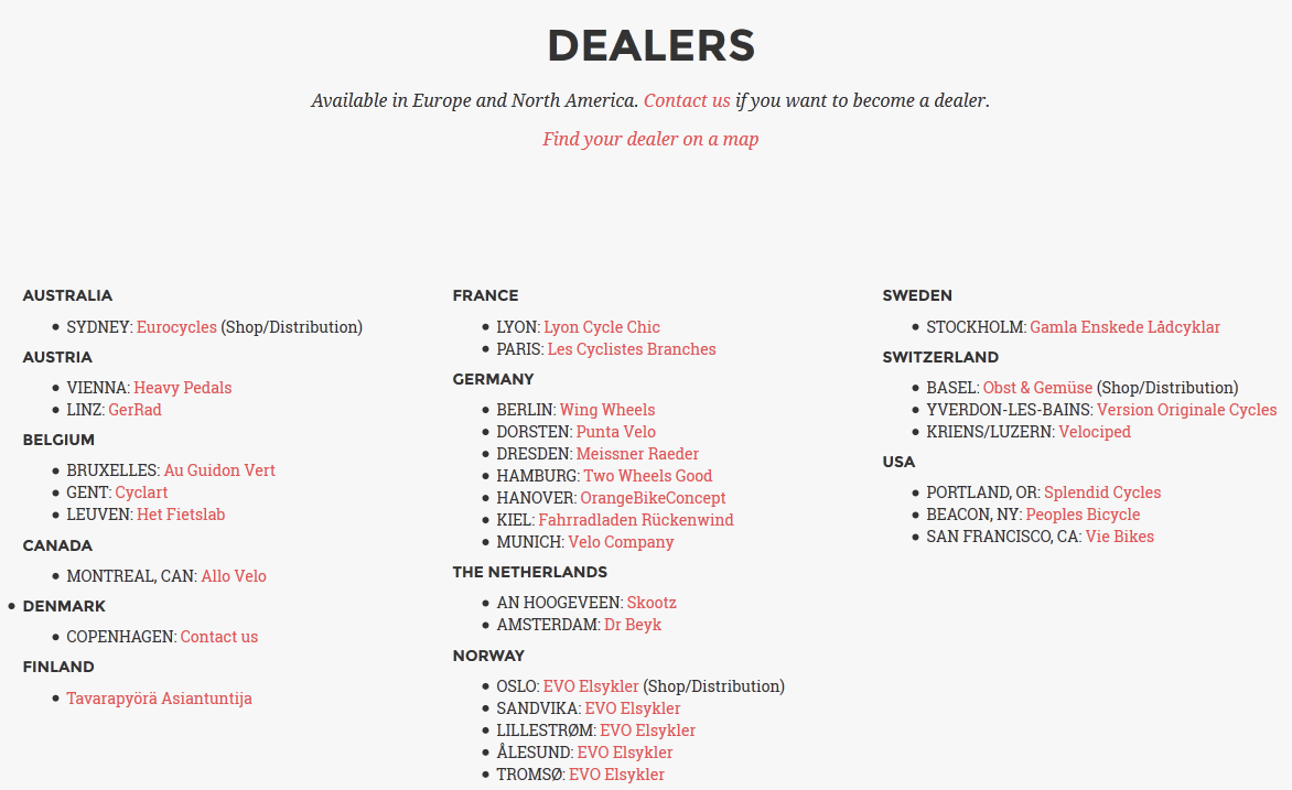 e-commerce typographic hierarchy: information page