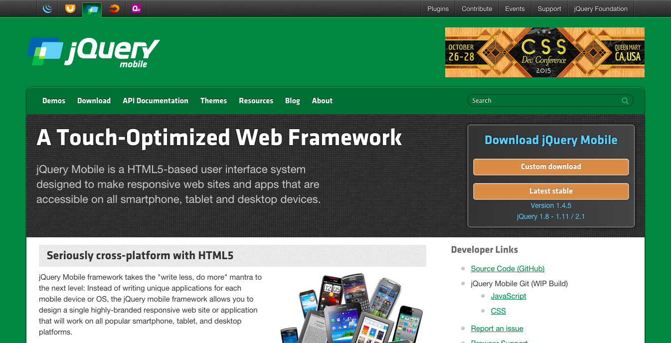Tools for Hybrid Application Development: jQuery Mobile