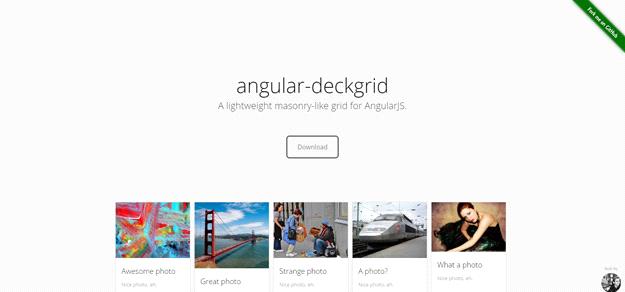 AngularJS tools: ANGULAR DECKGRID