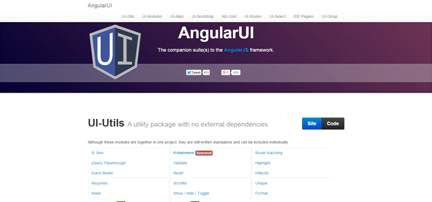AngularJS tools: ANGULAR UI