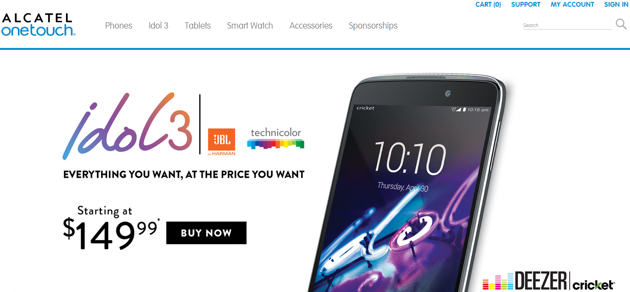 The Showcase of Magento 2 Shops: Alcatel Onetouch