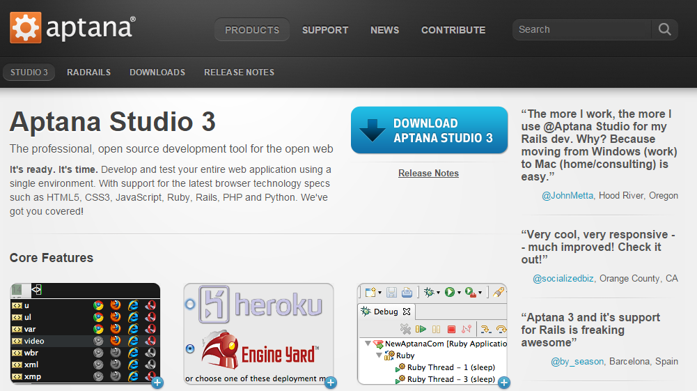 Aptana Studio Node.js IDE