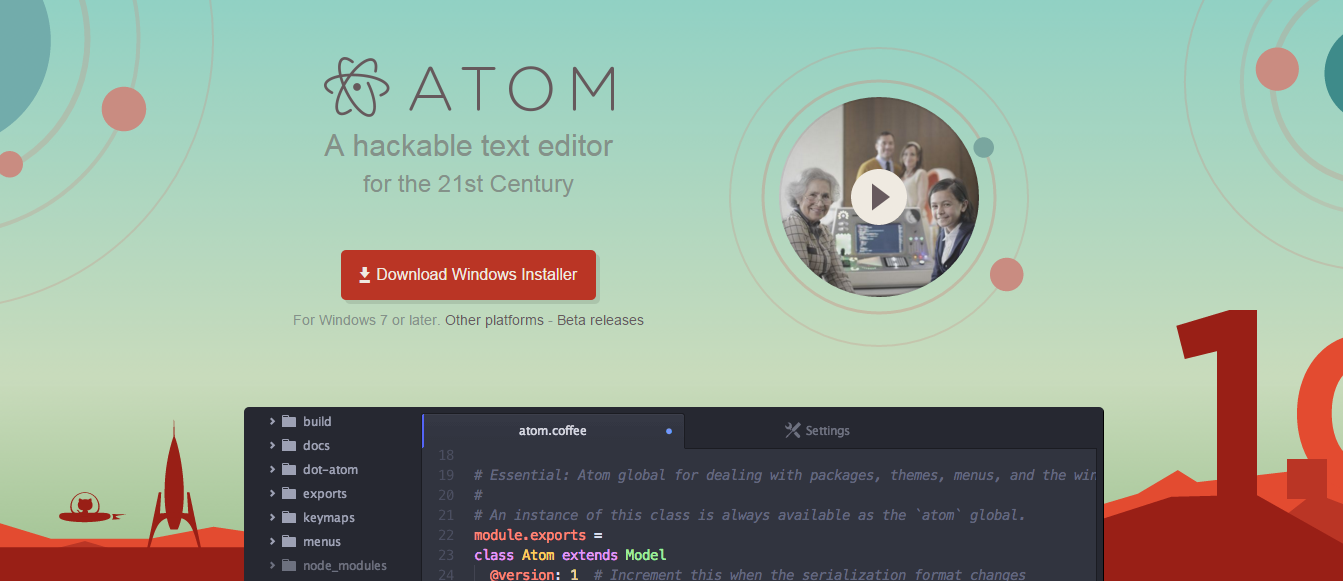 Atom IDE for Node.js development