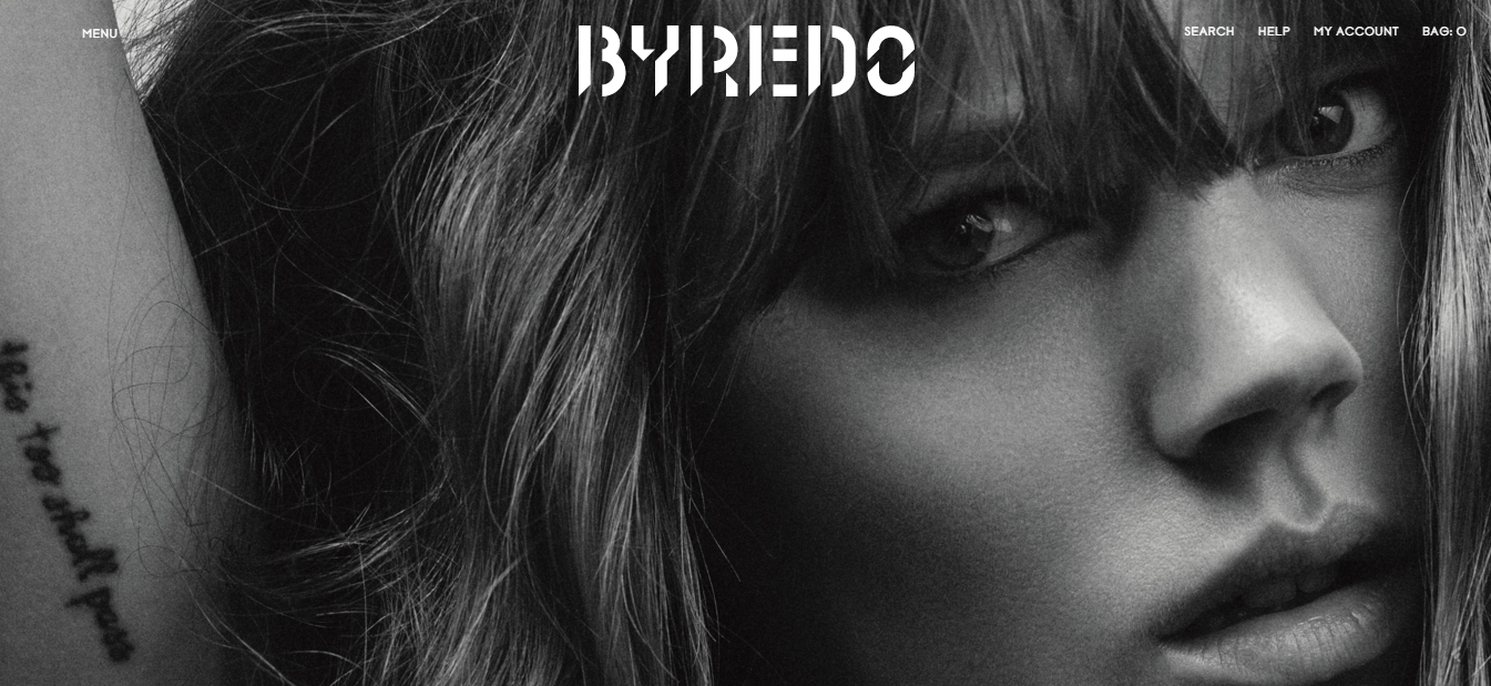 The Showcase of Magento 2 Shops: Byredo