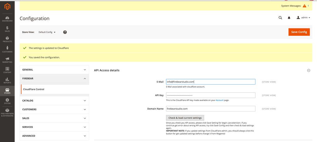 CF API Configuration