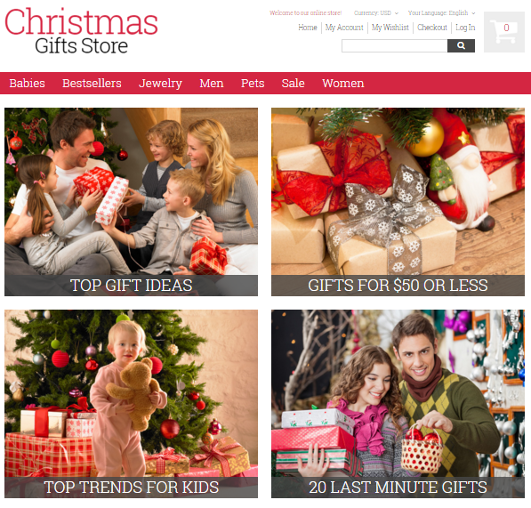 Magento Christmas Store: Templates and Themes