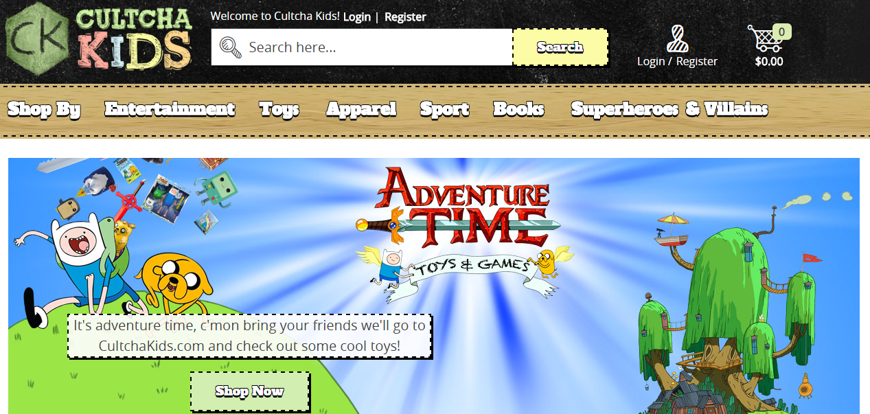 Magento 2 websites showcase: Cultcha Kids