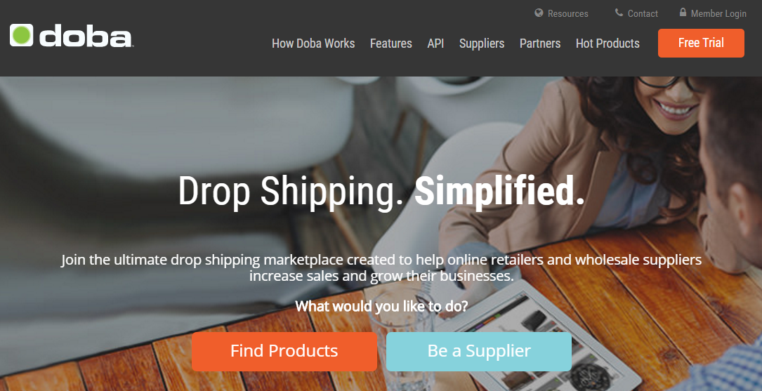 Doba drop shipping service
