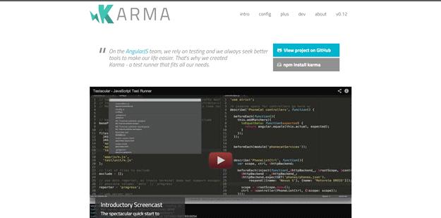 AngularJS tools: KARMA