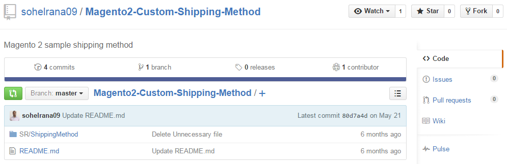 Custom Shipping Method in Magento 2