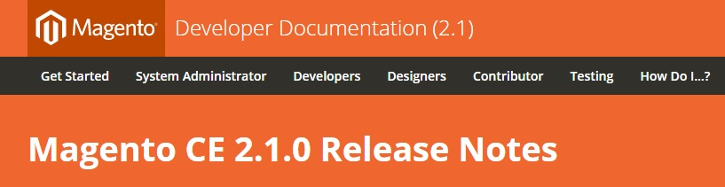 Magento 2.1.0 CE Release Notes