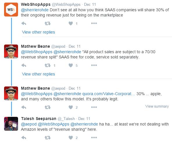 Magento Marketplace (70/30 revenue share split)