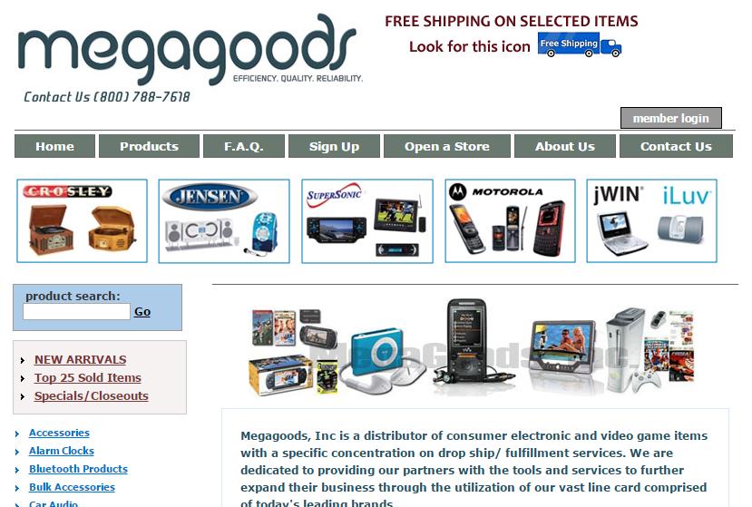 Megagoods dropship service