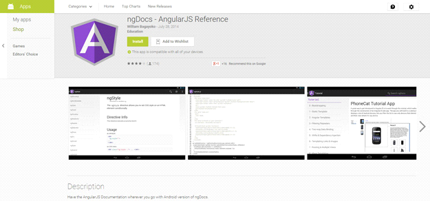 AngularJS tools: NGDOCS