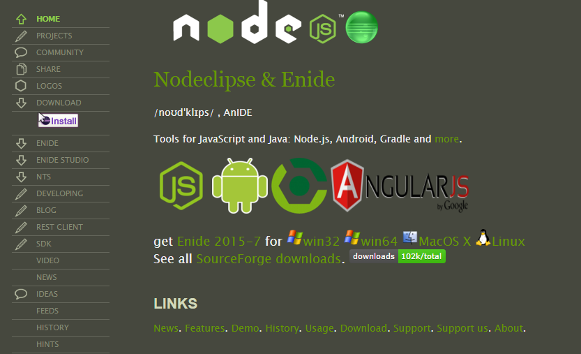 Nodeclipse IDE for Node.js