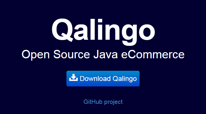 Java Ecommerce with Qalingo