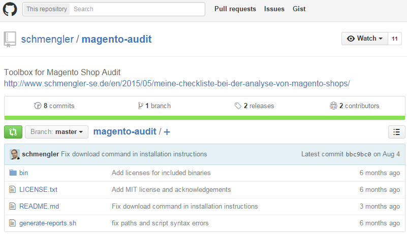 Magento website audit: Toolbox for Magento Shop Audit
