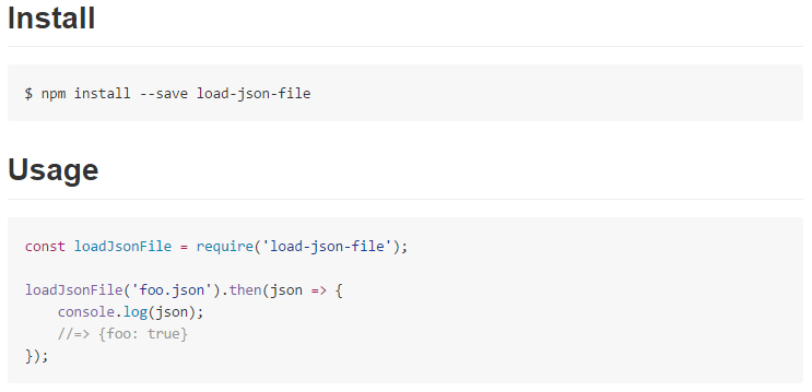 load-json-file node.js filesystem app