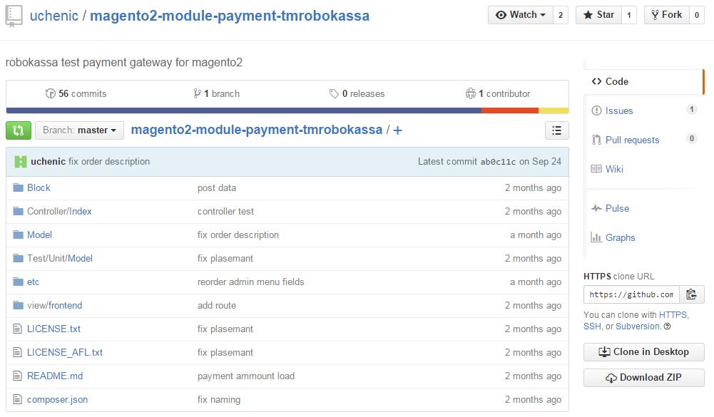 MAgento 2 payment gateways: magento2-module-payment-tmrobokassa