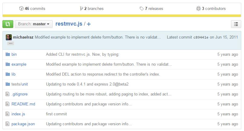 restmvc Node.js REST API framework