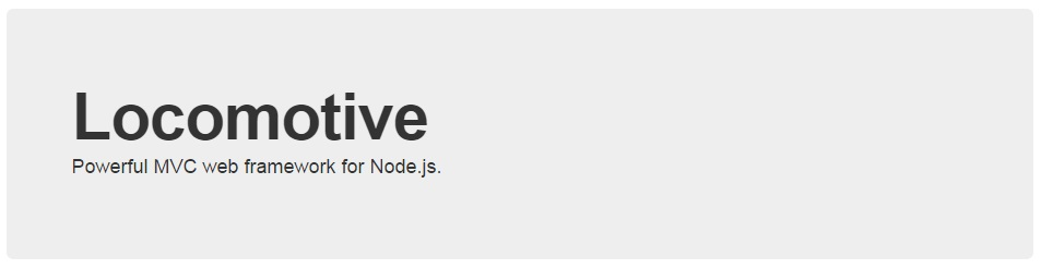 Locomotive Node.js Full Stack Framework