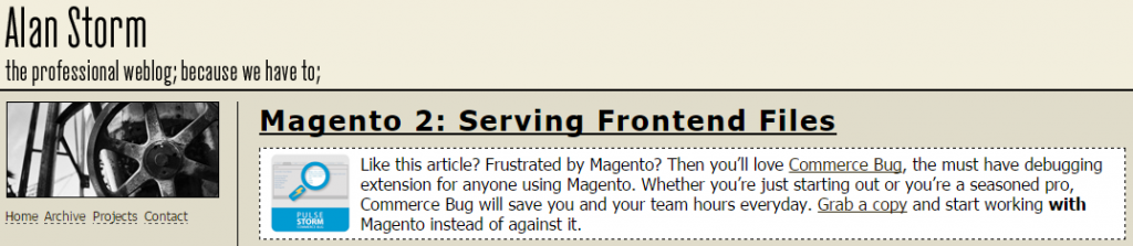 Serving Frontend Files in Magento 2