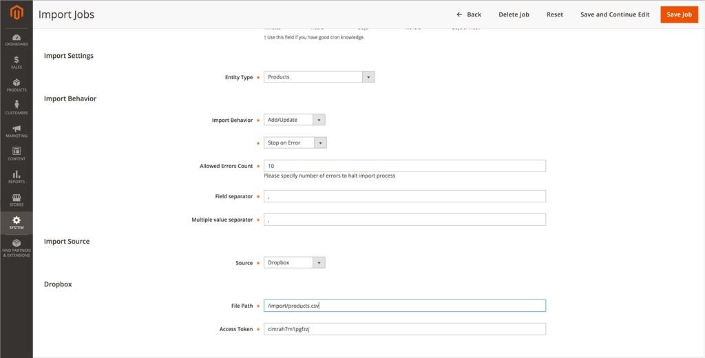 Click Add New Job to add a new process