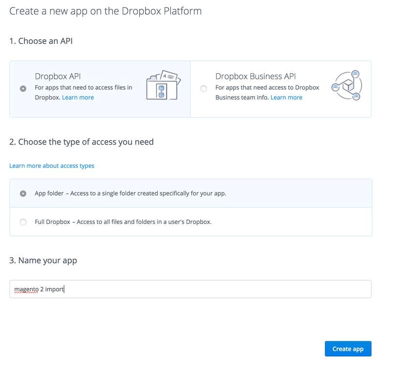 Dropbox API Application