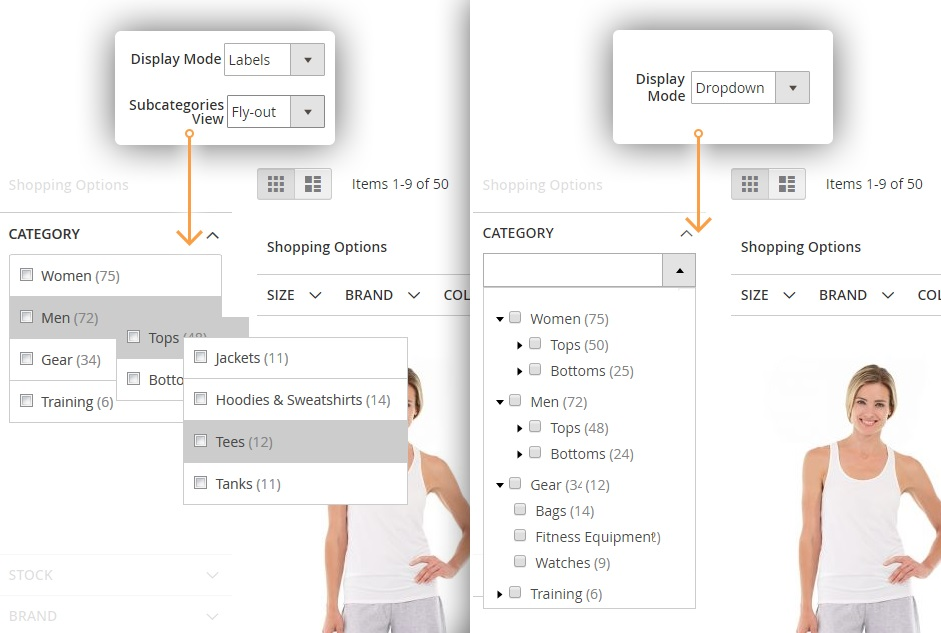 Improved layered navigation Magento 2 extension