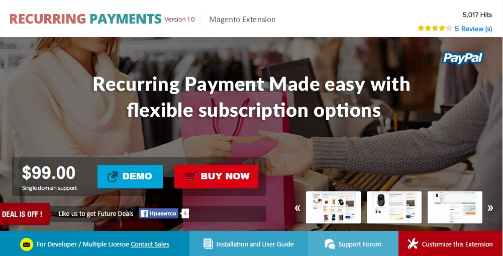 AheadWorks Subscriptions and Recurring Payments Magento Extension