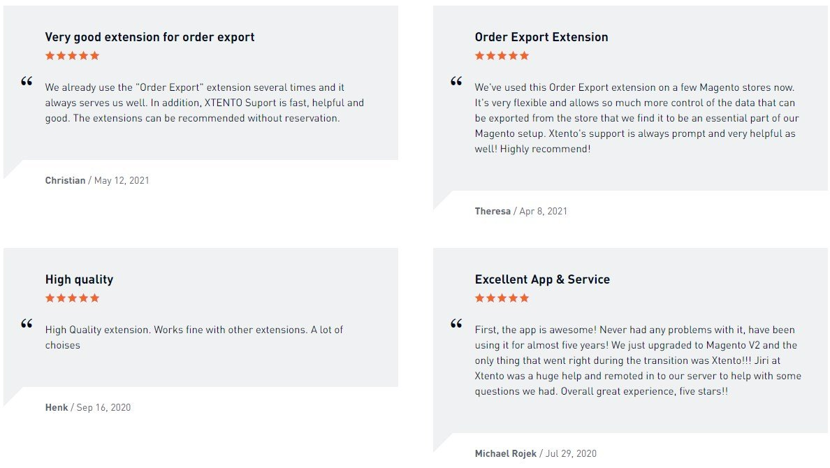 Xtento Order Export Magento Module Review; Xtento Order Export Magento 2 Extension Overview