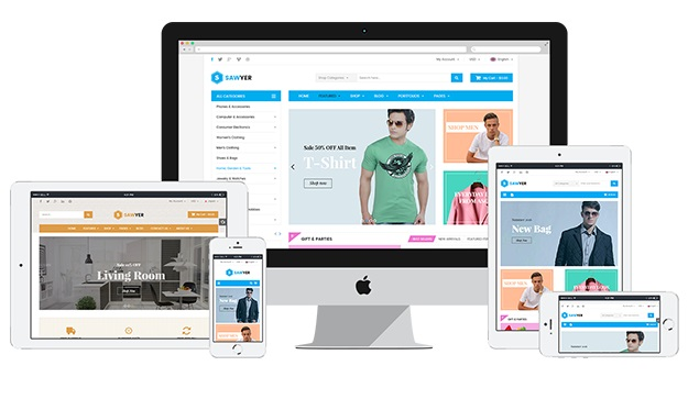Sawyer Magento 2 Theme Review; Sawyer Magento 2 Template Overview