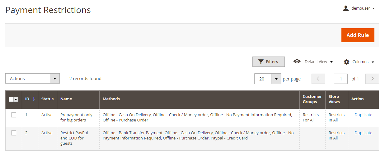 Amasty Payment Restrictions Magento Extension Review; Amasty Payment Restrictions Magento Module Overview