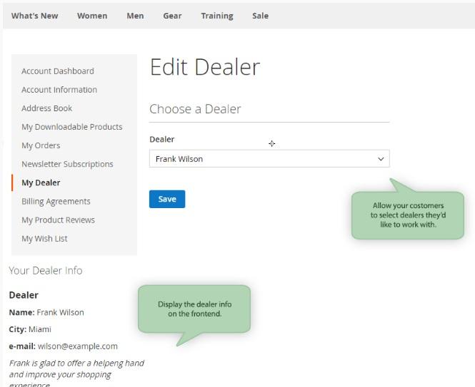 Edit dealer