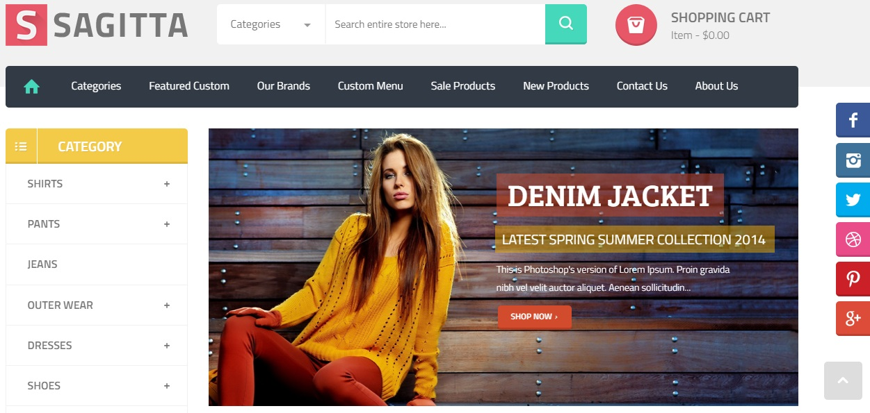 Sagitta Magento 2 Template Review; Sagitta Magento 2 Theme Overview
