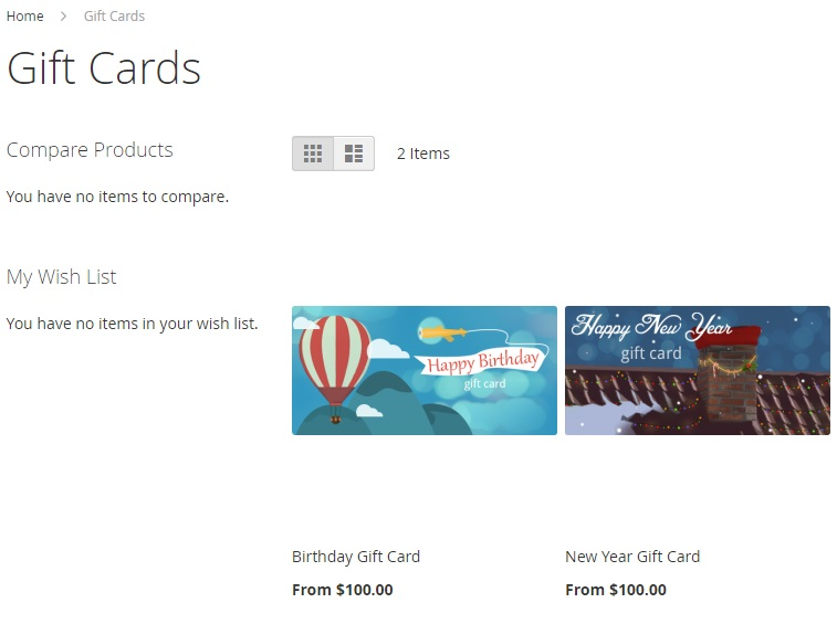 Amasty Gift Card Magento 2 Extension Module