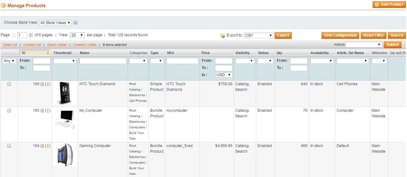 Extendware Admin Product Grid Magento Extension Review; Extendware Admin Product Grid Magento Module Overview