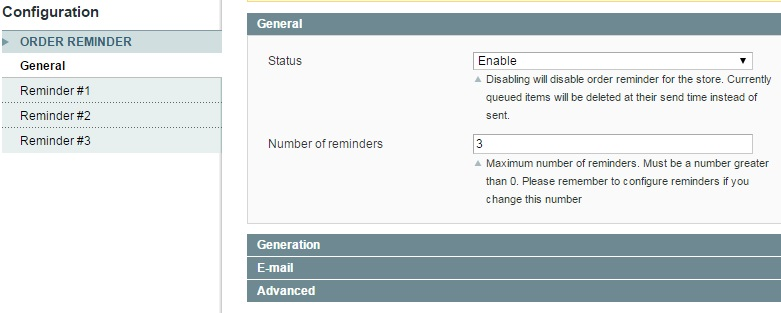 Extendware Order Reminder Magento Extension Review; Extendware Order Reminder Magento Module Overview