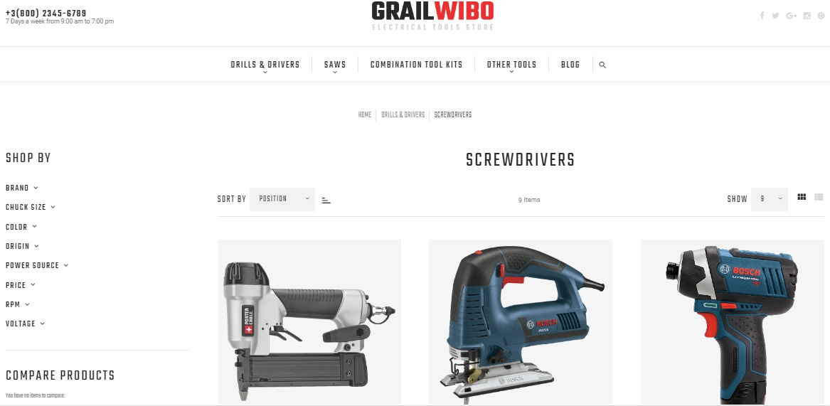 GrailWibo Magento 2 Theme Review; GrailWibo Magento 2 Template Overview