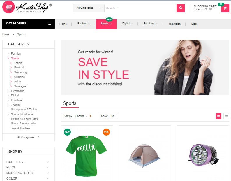 KuteShop Magento 2 Theme Review; KuteShop Magento 2 Themplate Overview