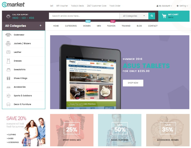 Ves Emarket Magento 2 Theme Review, Ves Emarket Magento 2 Template Overview