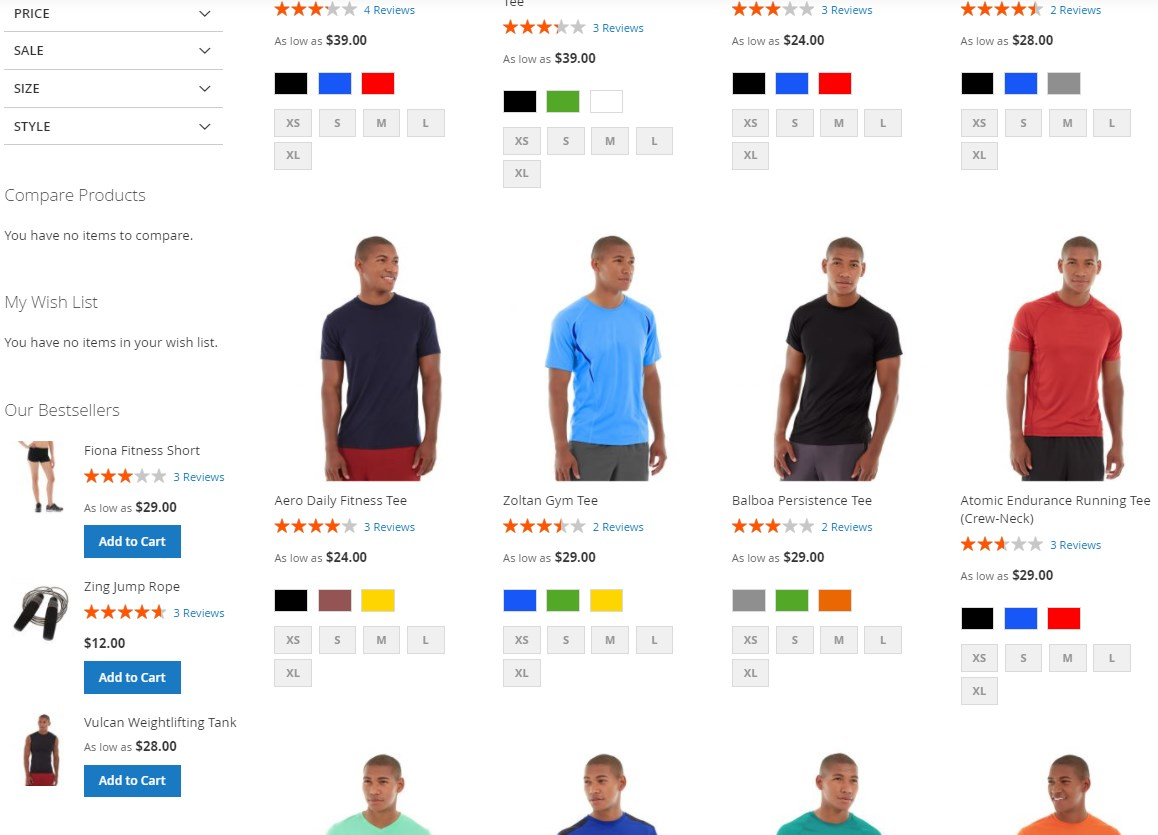 Amasty Improved Sorting Magento 2 module frontend