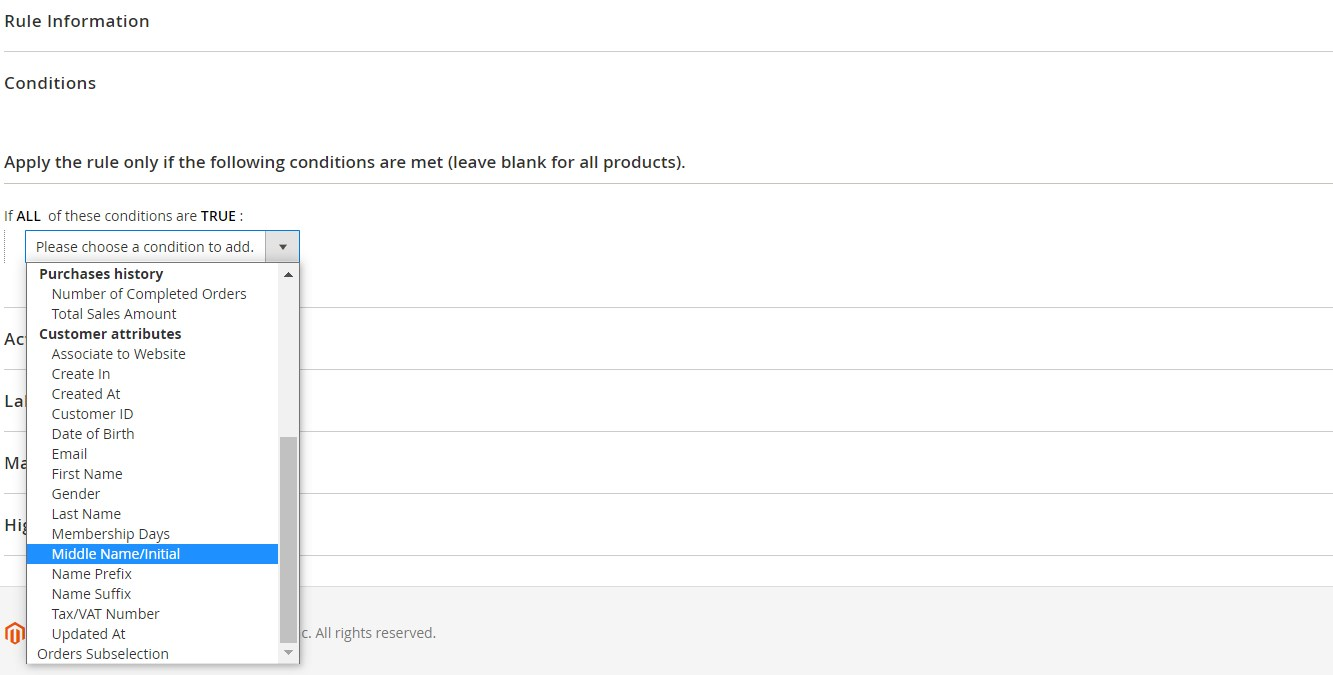 Magento 2 cart price rules configuration