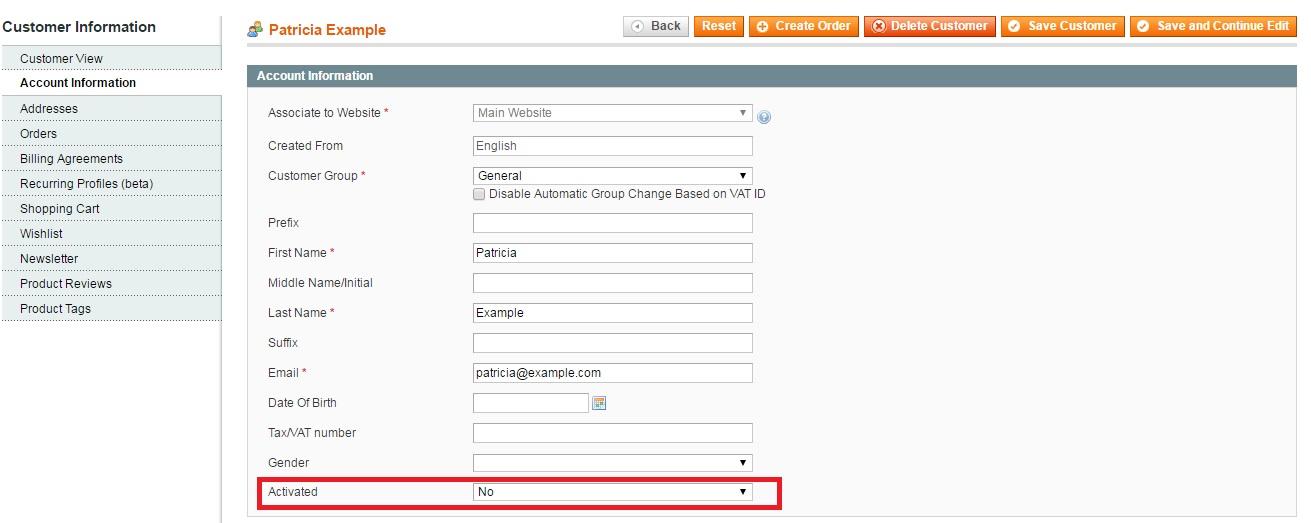 Extendware Customer Activation Magento Extension Review; Extendware Customer ActivationMagento Module Overview